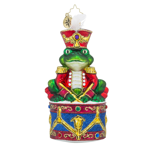 "Christopher Radko Glass Ornament - ""Ribbit Rhythum """