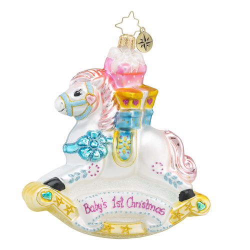 "Christopher Radko Glass Ornament - ""Rockin' Newborn"""