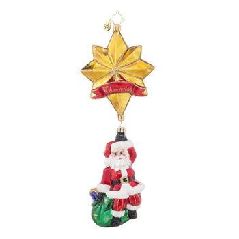 "Christopher Radko Glass Ornament - ""Royal Star Santa"""