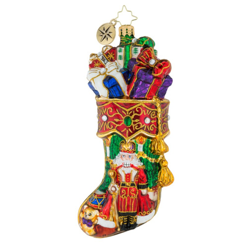 Christopher Radko Glass Ornament - Royal Stocking Stuffer 2018