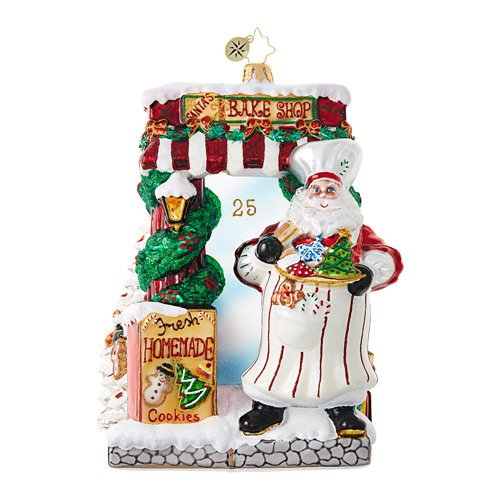 "Christopher Radko Glass Ornament - ""Santa Bakery"""