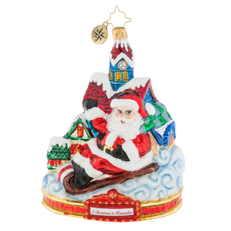 Christopher Radko Glass Ornament - Santa Snow Day 2018