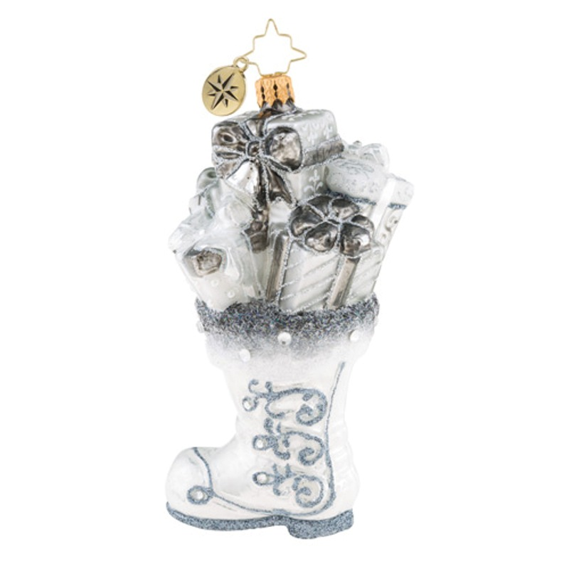 Christopher Radko Glass Ornament - Silver Sophistication 2018