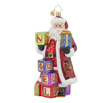 "Christopher Radko Glass Ornament - ""Simply Noel"" - Designer's Choice"