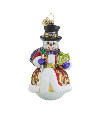 "Christopher Radko Glass Ornament - ""Sir Scarlet Snow - Limited Edition"