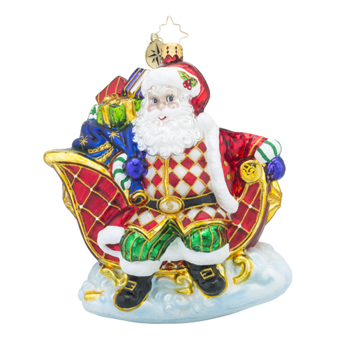 Christopher Radko Glass Ornament - Sleigh Valet