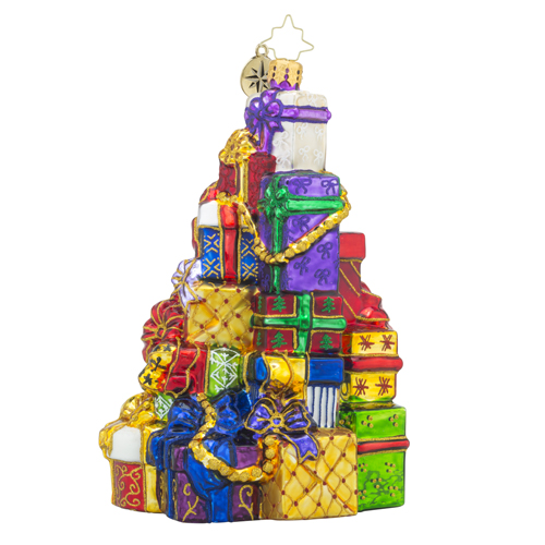 "Christopher Radko Glass Ornament - ""Snazzy Stack"""