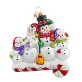 Christopher Radko Glass Ornament - Snow-one Like Family!