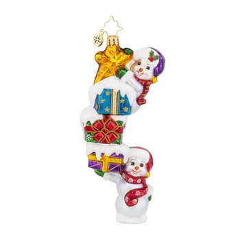 Christopher Radko Glass Ornament - Snow Stack On High
