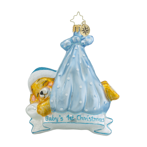 """Christopher Radko Glass Ornament - """"Special Delivery - Boy"""""""
