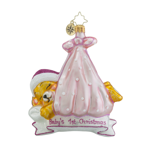 "Christopher Radko Glass Ornament - ""Special Delivery - Girl"""