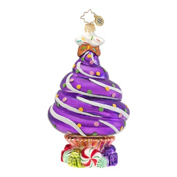 "Christopher Radko Glass Ornament - ""Sprinkle Spruce Ornament"""