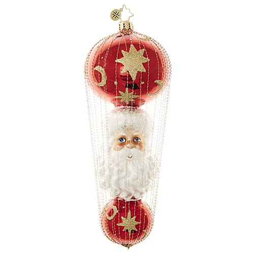 "Christopher Radko Glass Ornament - ""St. Nick-A-Float"""