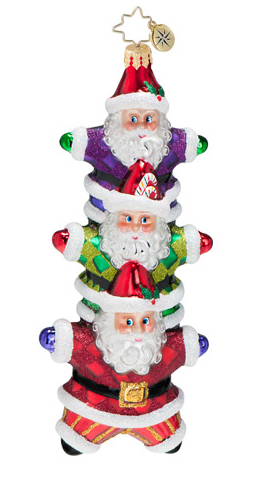"Christopher Radko Glass Ornament - ""Star Bright Stack Ornament"""