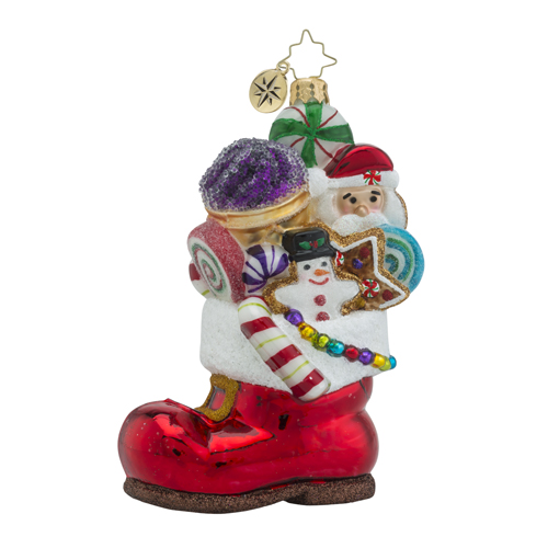 "Christopher Radko Glass Ornament - ""Sugar Boot Sack"""