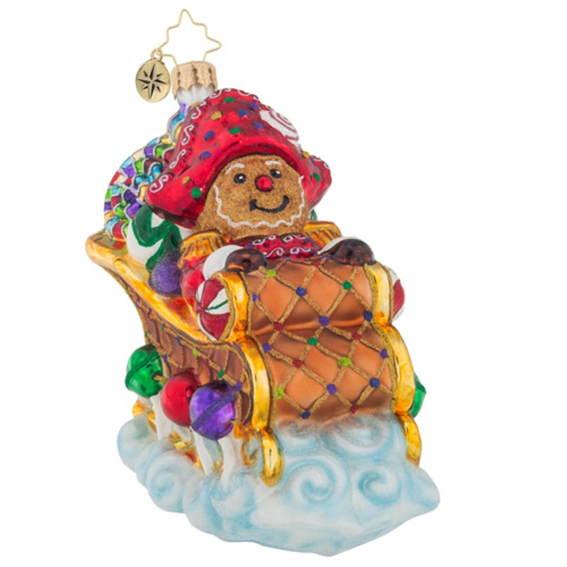 Christopher Radko Glass Ornament - Sugar Coated Sleigh 2018