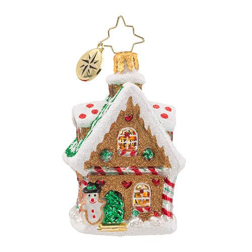 "Christopher Radko Glass Ornament - ""Sweet Ginger Cottage Gem"""