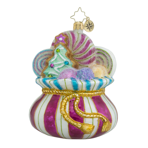"Christopher Radko Glass Ornament - ""Sweet Satchel"""