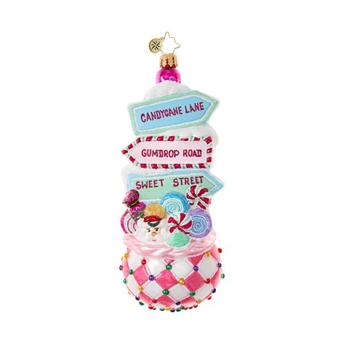 Christopher Radko Glass Ornament - Sweet Street Treat