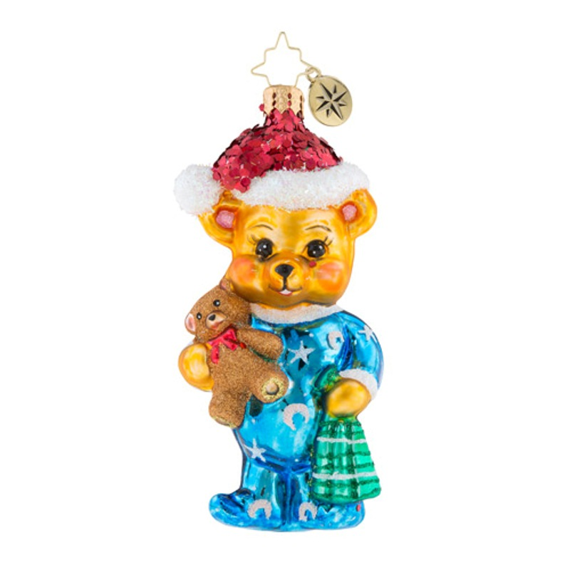 Christopher Radko Glass Ornament - Teddys Turning In 2018