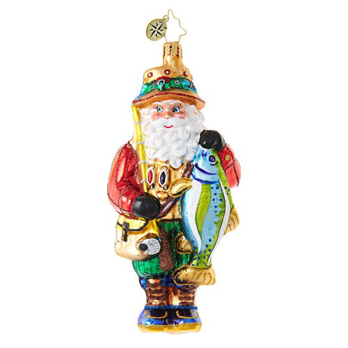 "Christopher Radko Glass Ornament - ""The Bass Time of Year"""