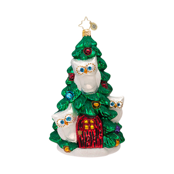 "Christopher Radko Glass Ornament - ""Tree For Three Ornament"""