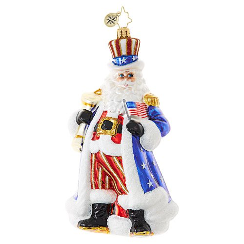 "Christopher Radko Glass Ornament - ""Uncle Santa Wants You!"""