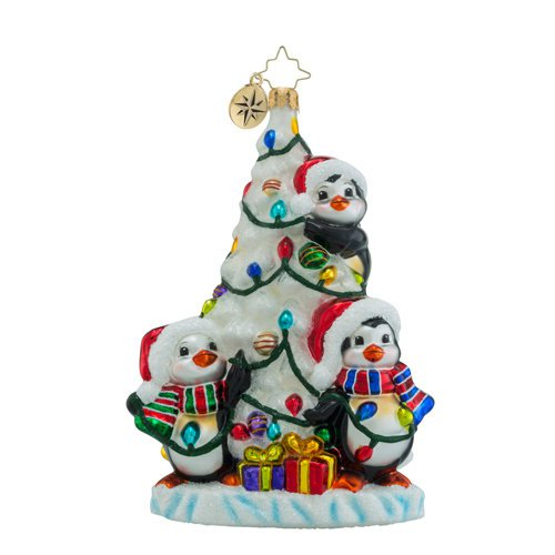 "Christopher Radko Glass Ornament - ""We Three Penguins"""