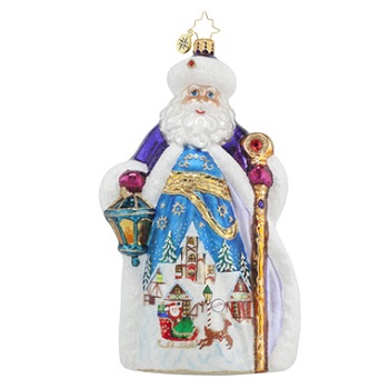 "Christopher Radko Glass Ornament - ""Winter Dream Nicholas"" - Limited Edition"