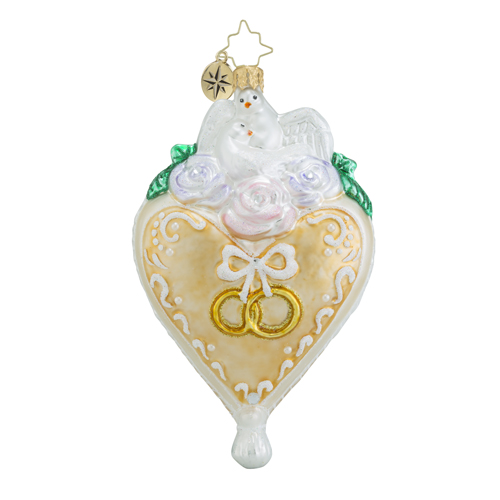 "Christopher Radko Glass Ornaments - ""Bridal"""