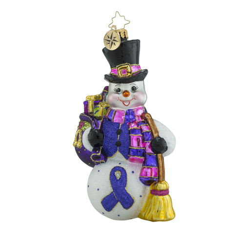 "Christopher Radko Glass Ornaments - ""Charity Awareness"""