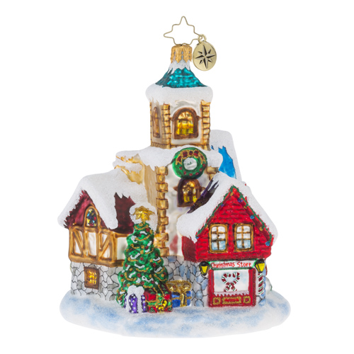 "Christopher Radko Glass Ornaments - ""Cottages & Houses"""