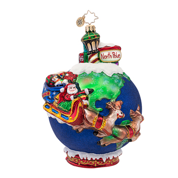 "Christopher Radko Glass Ornaments - ""Scenes from the North Pole Collection"""