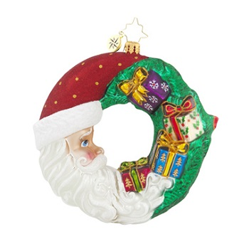 "Christopher Radko Glass Ornaments - ""Wreaths & Warmth"""