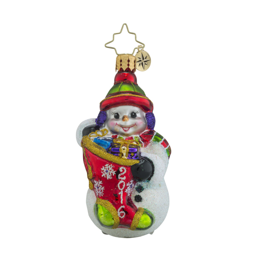 "Christopher Radko Little Gem Glass Ornament - ""A Year To Give 2016 Gem"""