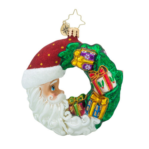 Christopher Radko Glass Ornament Gem - Crescent Christmas Presents
