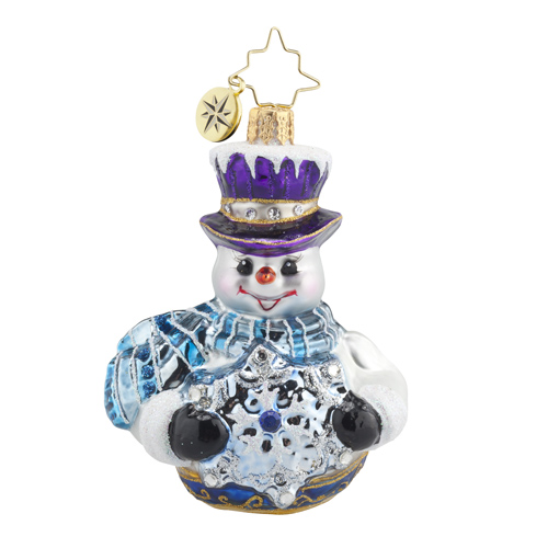 "Christopher Radko Little Gem Glass Ornament - ""Frosty Encounter Gem"""