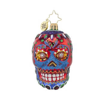 "Christopher Radko Little Gem Glass Ornament - ""La Calavera Gem"""