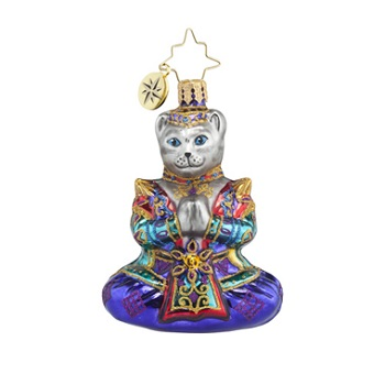 "Christopher Radko Little Gem Glass Ornament - ""Namaste Gem"""