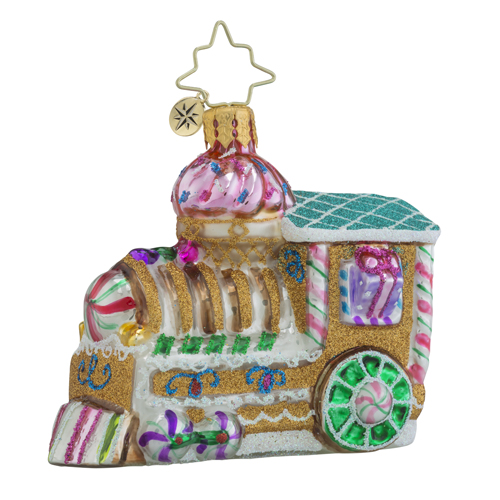 "Christopher Radko Little Gem Glass Ornament - ""Sugar Choo Choo Gem"""