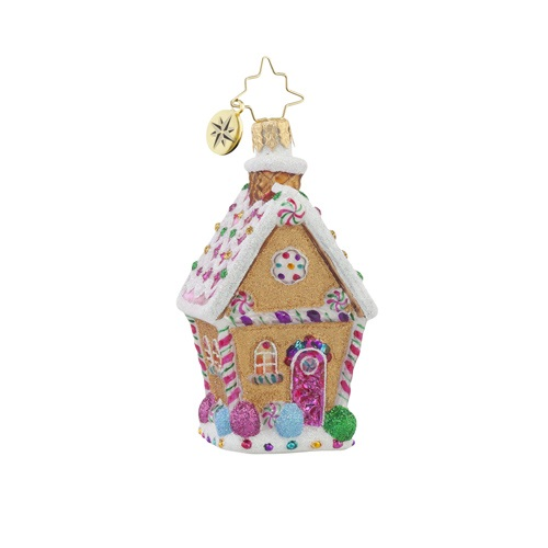 "Christopher Radko Little Gem Glass Ornament - ""Sugar Shack Gem"""
