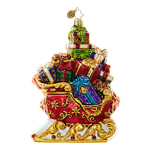 "Christopher Radko Glass Ornament - ""Sleigh of Splendor"""