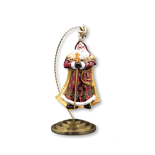 Christopher Radko Ornament Stand - Gold Star - Medium - 12