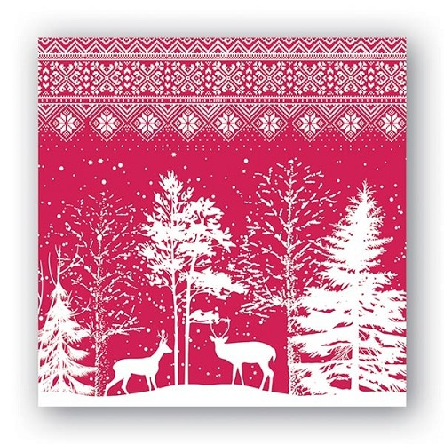 "Cocktail Napkins - ""Snowy Night"""