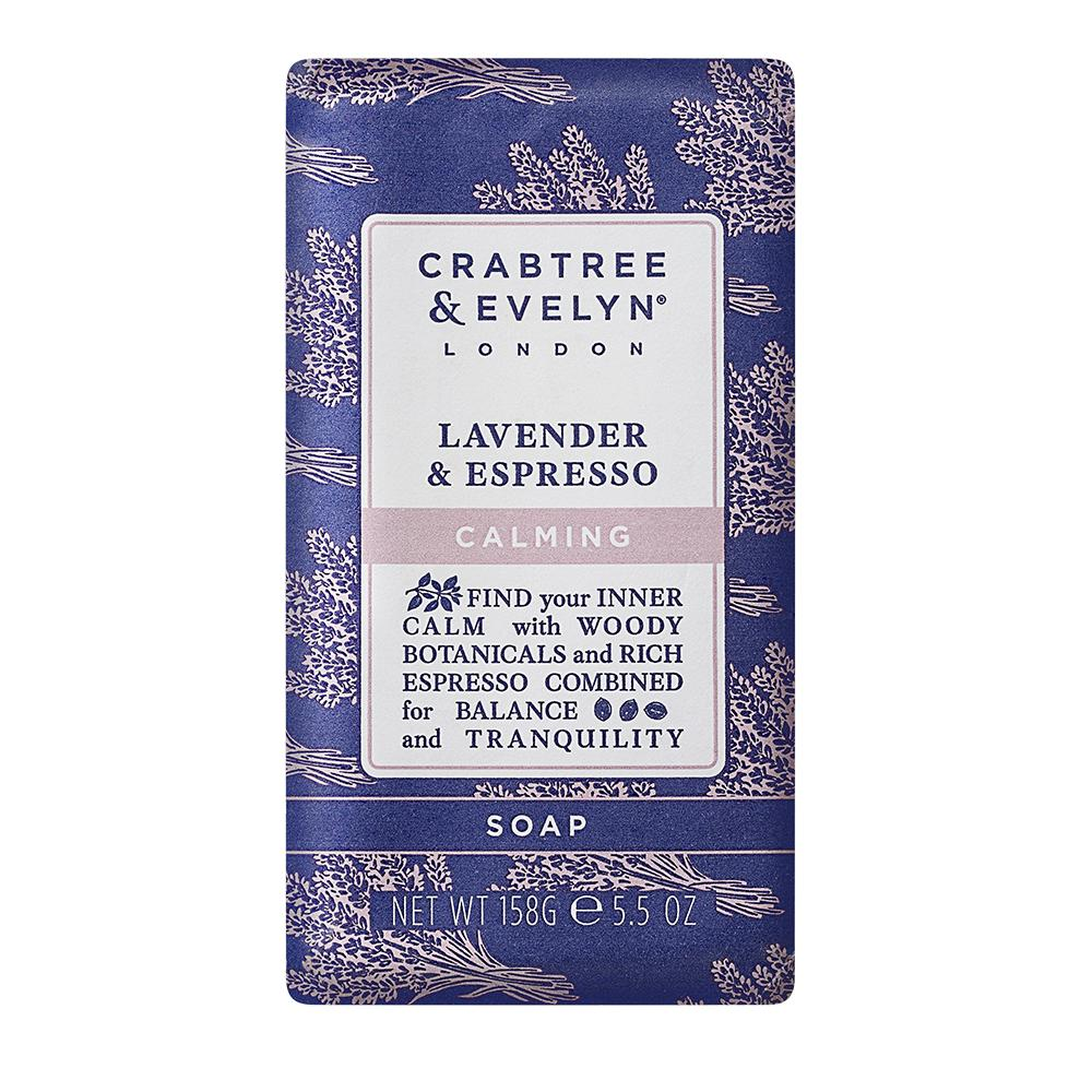 "CRABTREE & EVELYN  - ""Lavender & Espresso Triple Milled Soap"" - 158g Single"