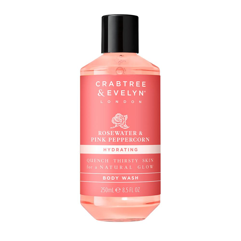 "CRABTREE & EVELYN  - ""Rosewater & Pink Peppercorn Body Wash"" - 250ml"