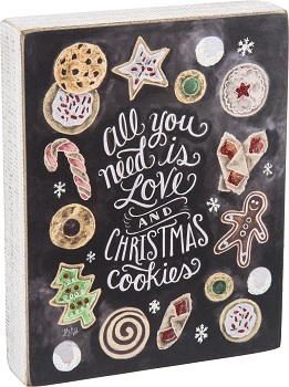 "Decorative Box Sign - ""Christmas Cookies... Box Sign"""