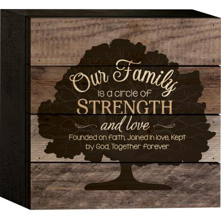"Decorative Box Sign - ""Family Circle...Box Sign"""