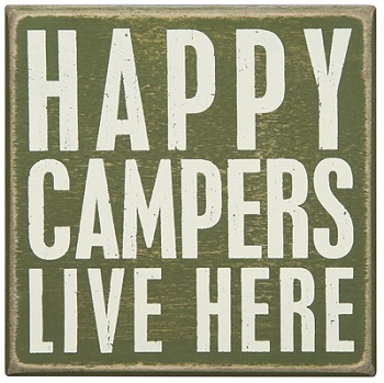"Decorative Box Sign - ""Happy Campers...Box Sign"""