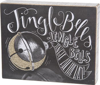 "Decorative Box Sign - ""Jingle Bells... Box Sign"""